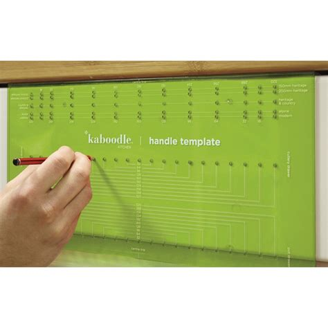 template for drilling holes in cabinet doors kaboodle handle drilling template ebay