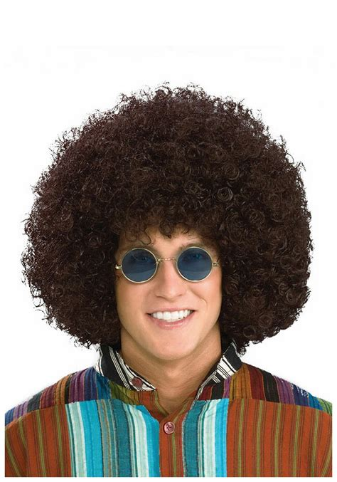 male hippie hair care hippie afro wig