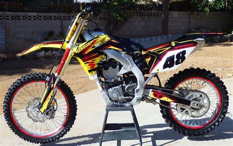 Suzuki Motorcycle Graphics Suzuki Rmz Custom Dirt Bike Graphics Image Gallery
