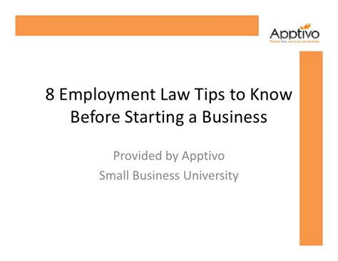 Must Tips For Starting A New Business by 8 Employment Tips To Before Starting A Business