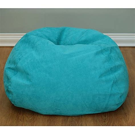 microsuede bean bag chairs buy large microsuede bean bag chair in turquoise from bed