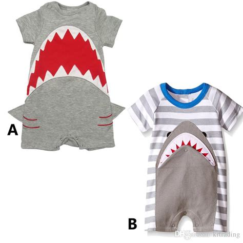 Romper Baby Shark 2017 shark romper 2styles for baby boys