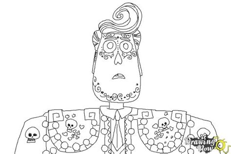 coloring pages the book of life how to draw manolo from the book of life drawingnow