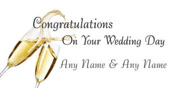Congratulations on your wedding day getpersonalwithchocolate