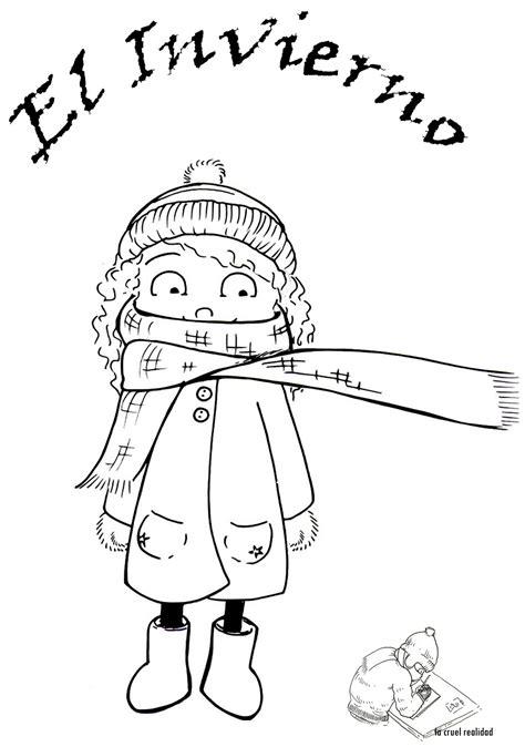 imagenes de invierno infantiles para colorear dibujos de 161 bienvenido invierno para colorear mu 241 ecos de