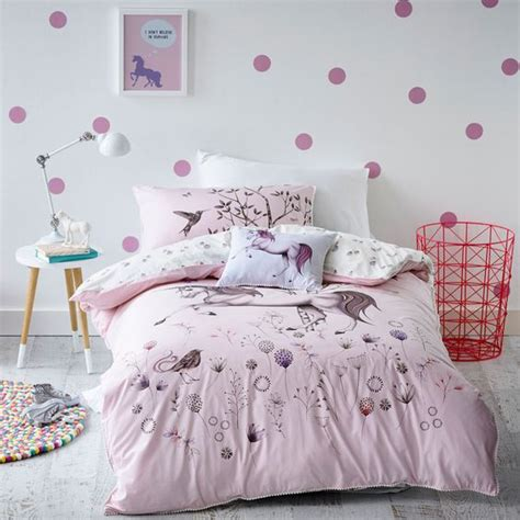 White Cot Bed Duvet Cover Tendencia Decoracion Unicornios