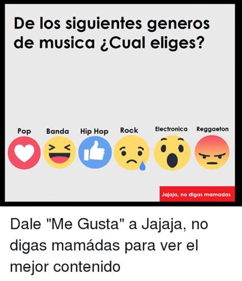 Memes Musica - de los siguientes generos de musica icual eliges pop