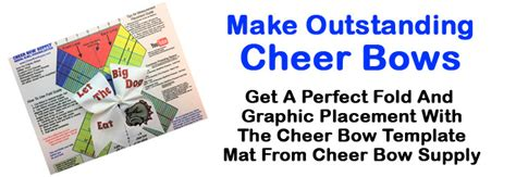 Free Cheer Bow Template