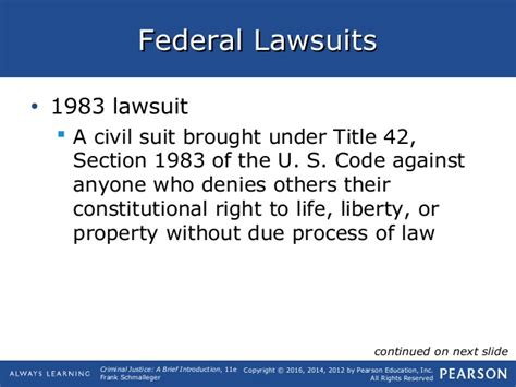 section 1983 of title 42 of the u s code schmalleger ch06 lecture