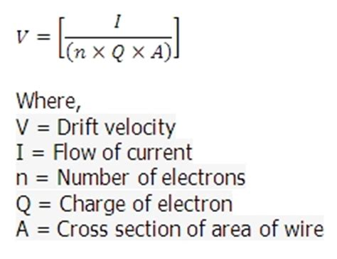 how to calculate cross sectional area of wire drift velocity calculator online drift velocity