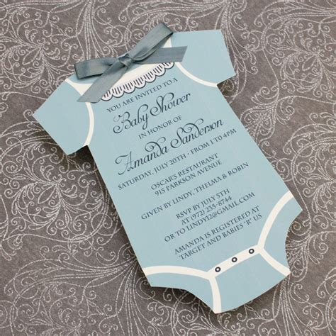 Baby Boy Shower Templates Invitations by Baby Shower Invitation Template Boys Onsie Print