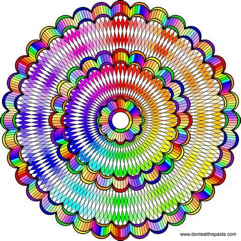 colored mandala don t eat the paste intricate mandala to color