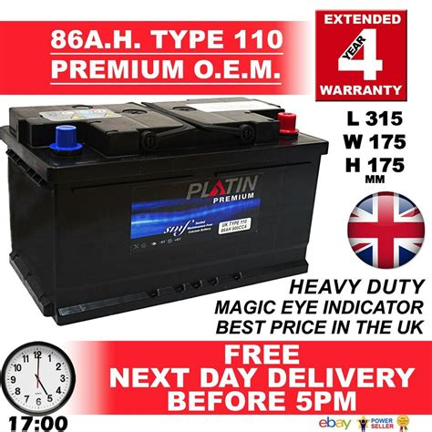 Car Battery Types Uk by 110 85ah Ford Transit 2 2 Tdci 2006 S5 Car Battery Type Uk