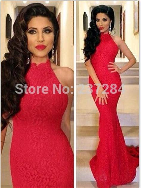 robe soiree dentelle 2015 aliexpress com acheter glamous rouge sir 232 ne dentelle