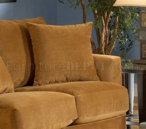 bella cognac fabric living room sofa loveseat set
