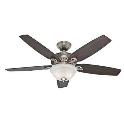 home depot 52 ceiling fans heathrow 52 in brushed nickel ceiling fan 52110 the home depot