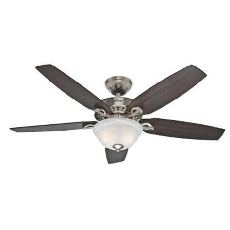 hunter heathrow 52 inch ceiling fan hunter heathrow 52 in brushed nickel ceiling fan 52110