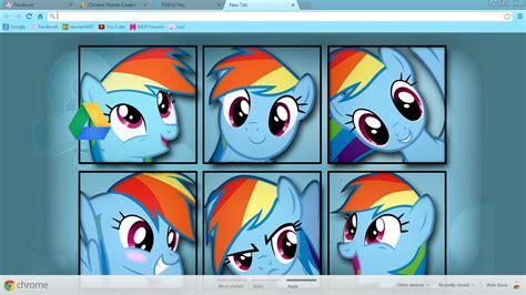 google themes rainbow rainbow dash google chrome theme v1 by xxzombloxxorxx on