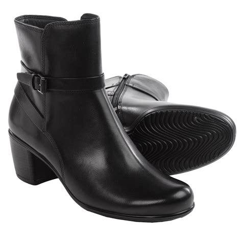 ecco boots for ecco touch 55 leather ankle boots for save 27