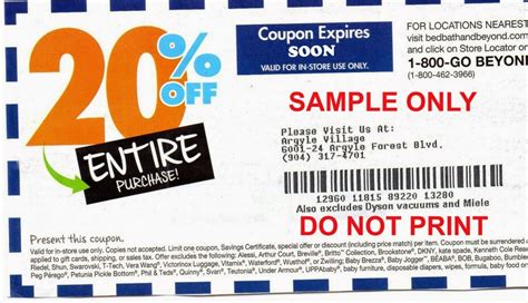 20 Coupon Bed Bath Beyond by Free Printable Coupons Bed Bath And Beyond Coupons