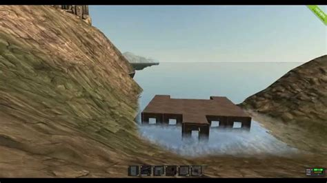 Game Rust a house built in water.   YouTube