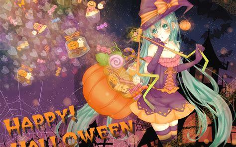anime girl halloween wallpaper halloween anime 513021 walldevil