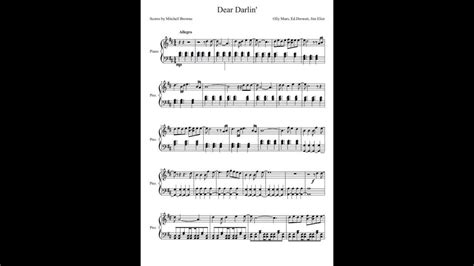piano tutorial up olly murs dear darlin olly murs piano cover with sheet music