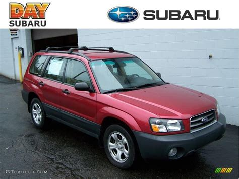 red subaru forester 2003 cayenne red pearl subaru forester 2 5 x 18908335