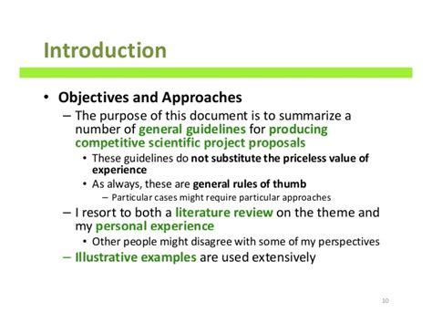 how to write scientific project proposals a