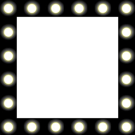 mirror with light border clipart showbiz make up mirror style frame