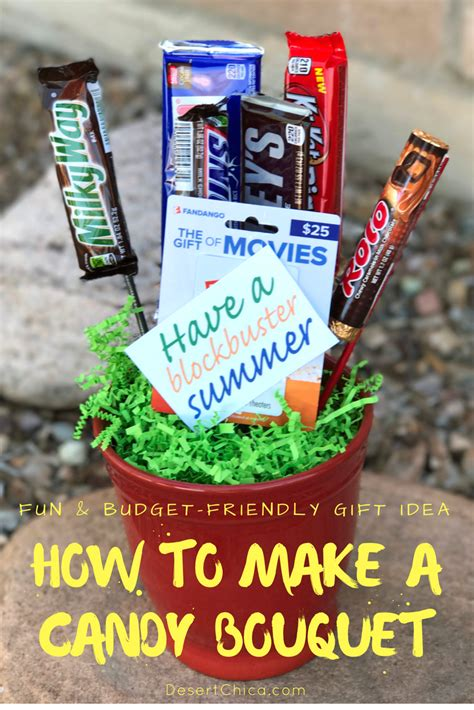 How To Make A Gift Card Bouquet - how to make a candy bouquet end of year teacher gift desert chica