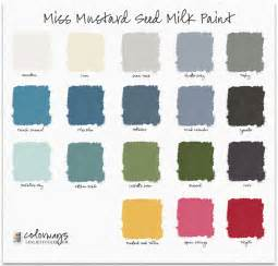 milk paint colors miss mustard seed milk paint colors colorways with