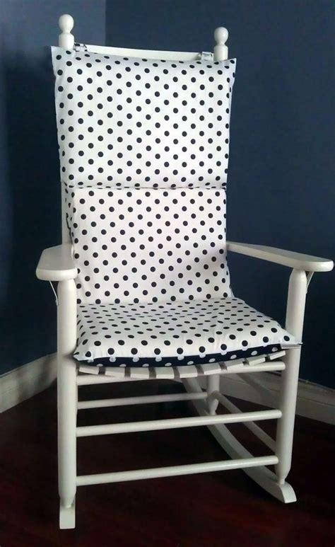 navy and white chair cushions rocking chair cushion navy white polka dot by