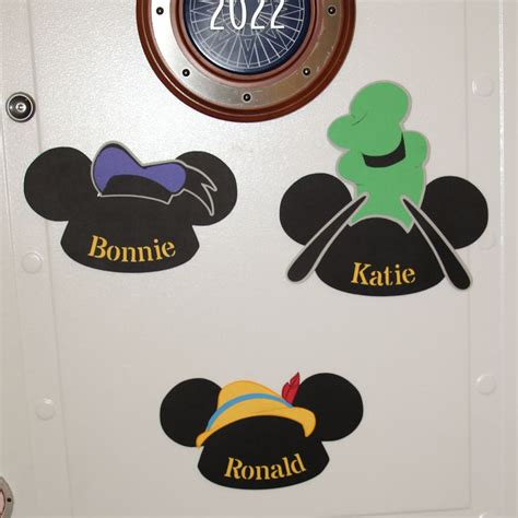 door name signs for the disney cruise mickey ears with hats domesticated engineer
