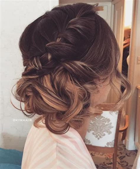 curly thin crown pictures trubridal wedding blog 60 updos for thin hair that score