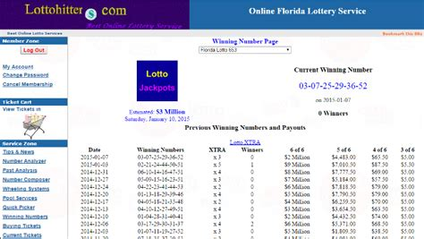 Florida Mega Money Winning Numbers List - history of winning powerball numbers euro milions uk