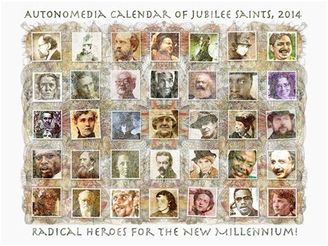 autonomedia calendar of jubilee saints 2018 books 2014 autonomedia calendar of jubilee saints 9781570272806