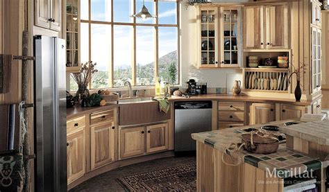 Buy Kitchen Cabinet Doors Merillat Classic 174 Sutton Cliffs In Hickory Natural Merillat