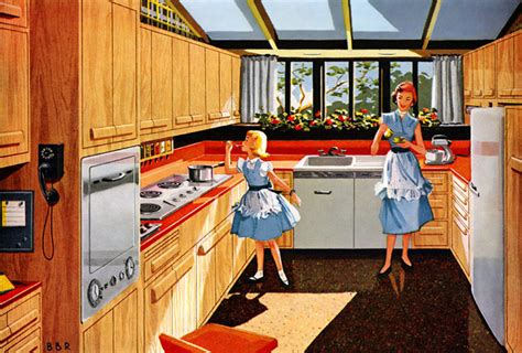 design through the decades az 1950s kitchens