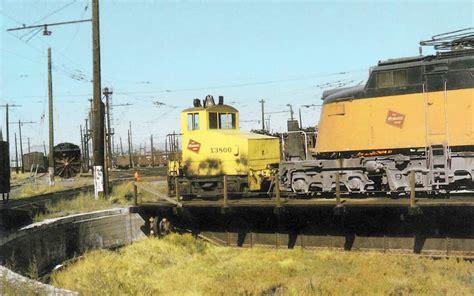 Backyard Railroads Postcard Chicago Trains Milwaukee Road Shop