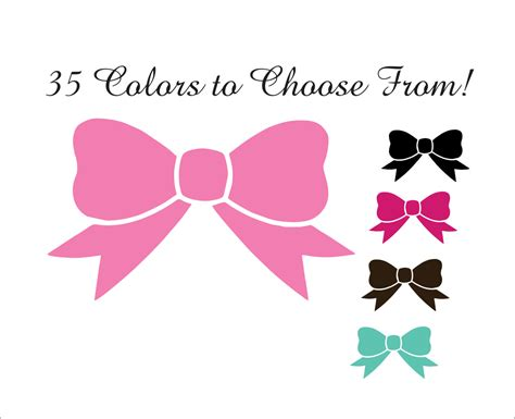 bow decal 1 bow decal cute bow sticker hairbow decal hairbow