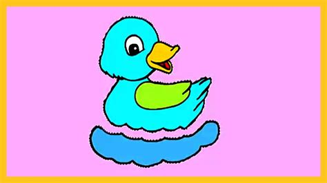 what color are ducks learn colors with duck how to color a duck coloring for