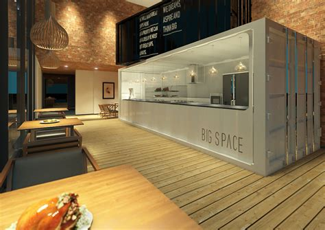 interior design container cafe container cafe on behance
