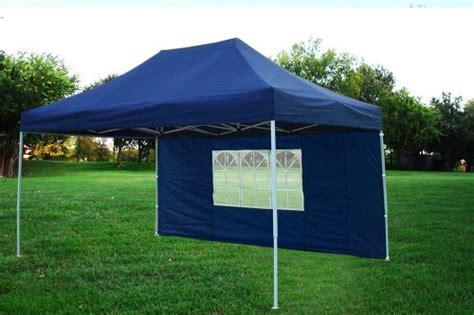 10x15 Gazebo 10x15 Pop Up 4 Wall Canopy Tent Gazebo Ez Navy Blue