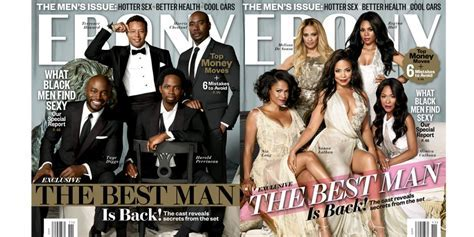 The Best Man Holiday Cast Covers Ebony   Movies