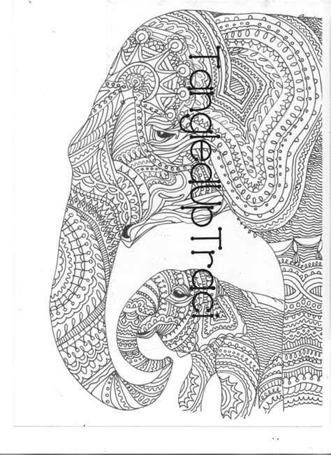 detailed elephant coloring pages detailed and intricate elephant zentangle by tangleduptraci