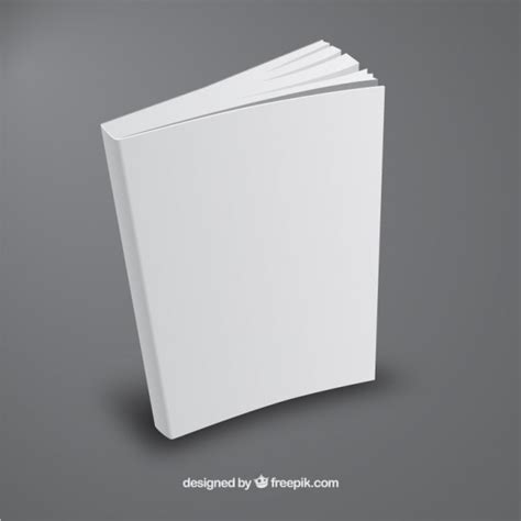 book template in white book template in perspective free vector