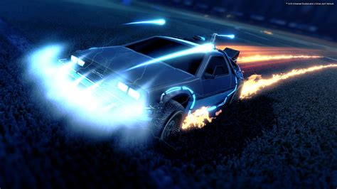back to the future images rocket league back to the future car pack