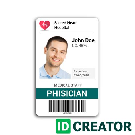 hospital id badge template doctor id card 2 wit research id card template card