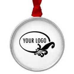 custom business logo products round metal christmas ornament